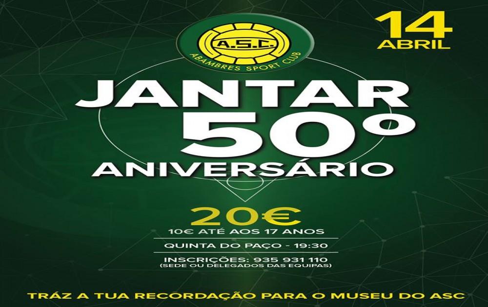 | JANTAR COMEMORATIVO DO 50.º ANIVERSÁRIO DO ABAMBRES S. C. |